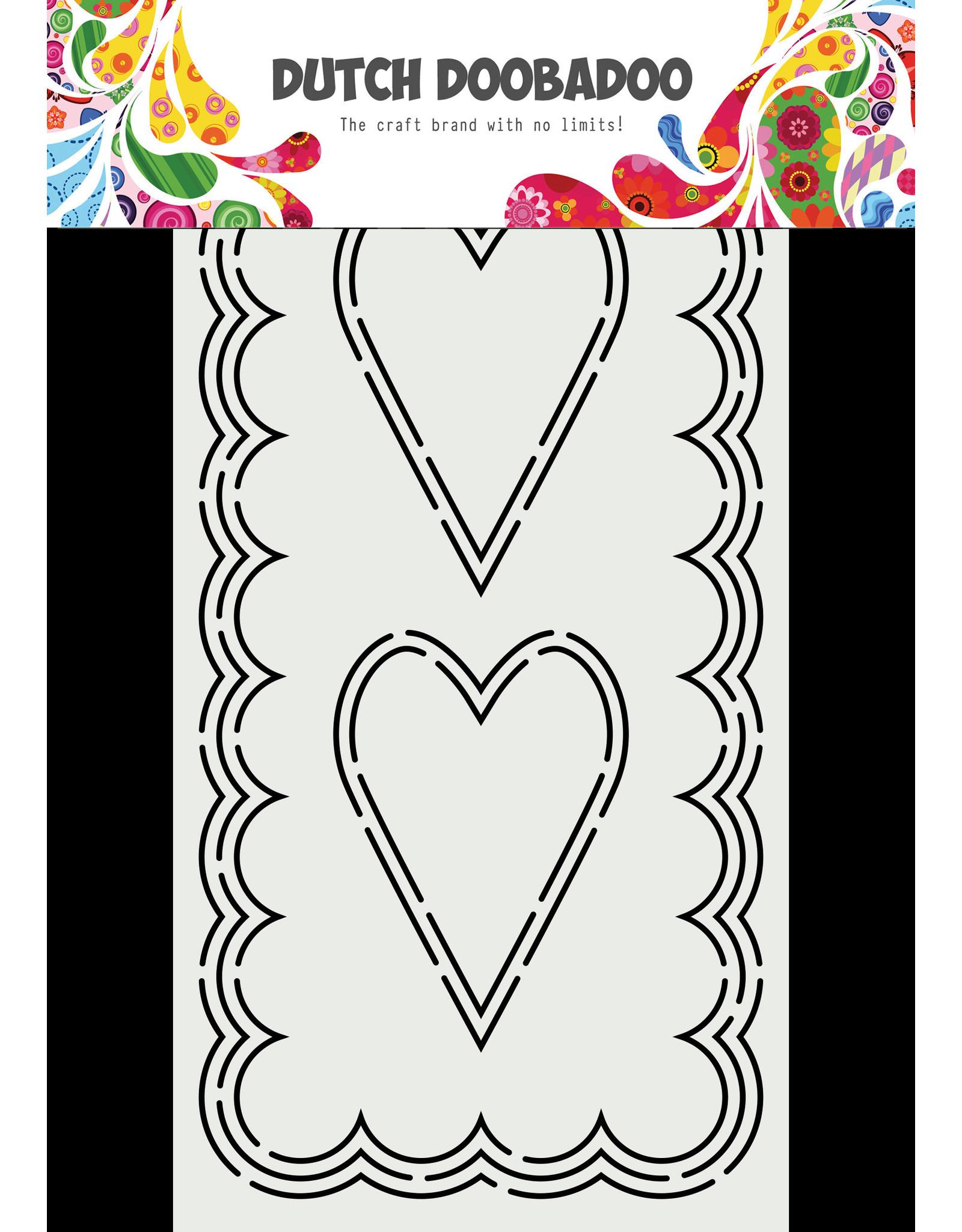 Dutch Doobadoo DDBD Card Art Slimline Hearts