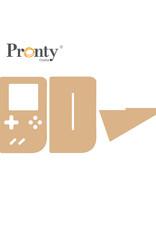 Pronty Crafts MDF Game Computer Size