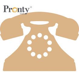 Pronty Crafts MDF 3 mm Retro Telephone