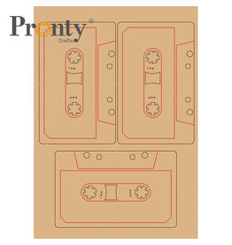 Pronty Crafts MDF 3 mm A5 Retro Cassette Tapes