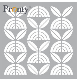 Pronty Crafts Mask stencil Retro Pattern Flowers 15 x 15 cm