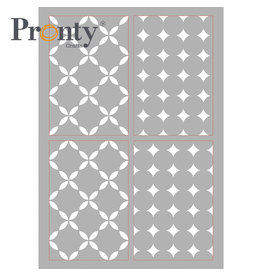 Pronty Crafts Mask stencil A4 Retro Pattern 4 layers