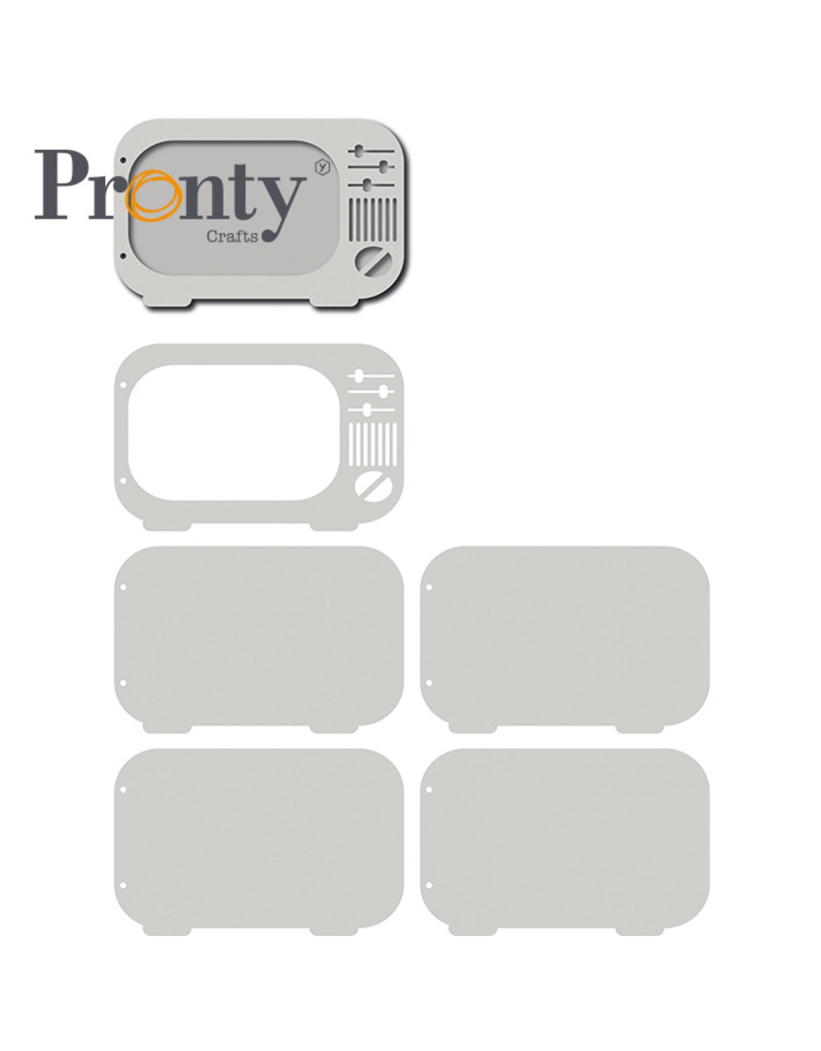 Pronty Crafts Grey Chipboard Album Retro TV 206x133 mm