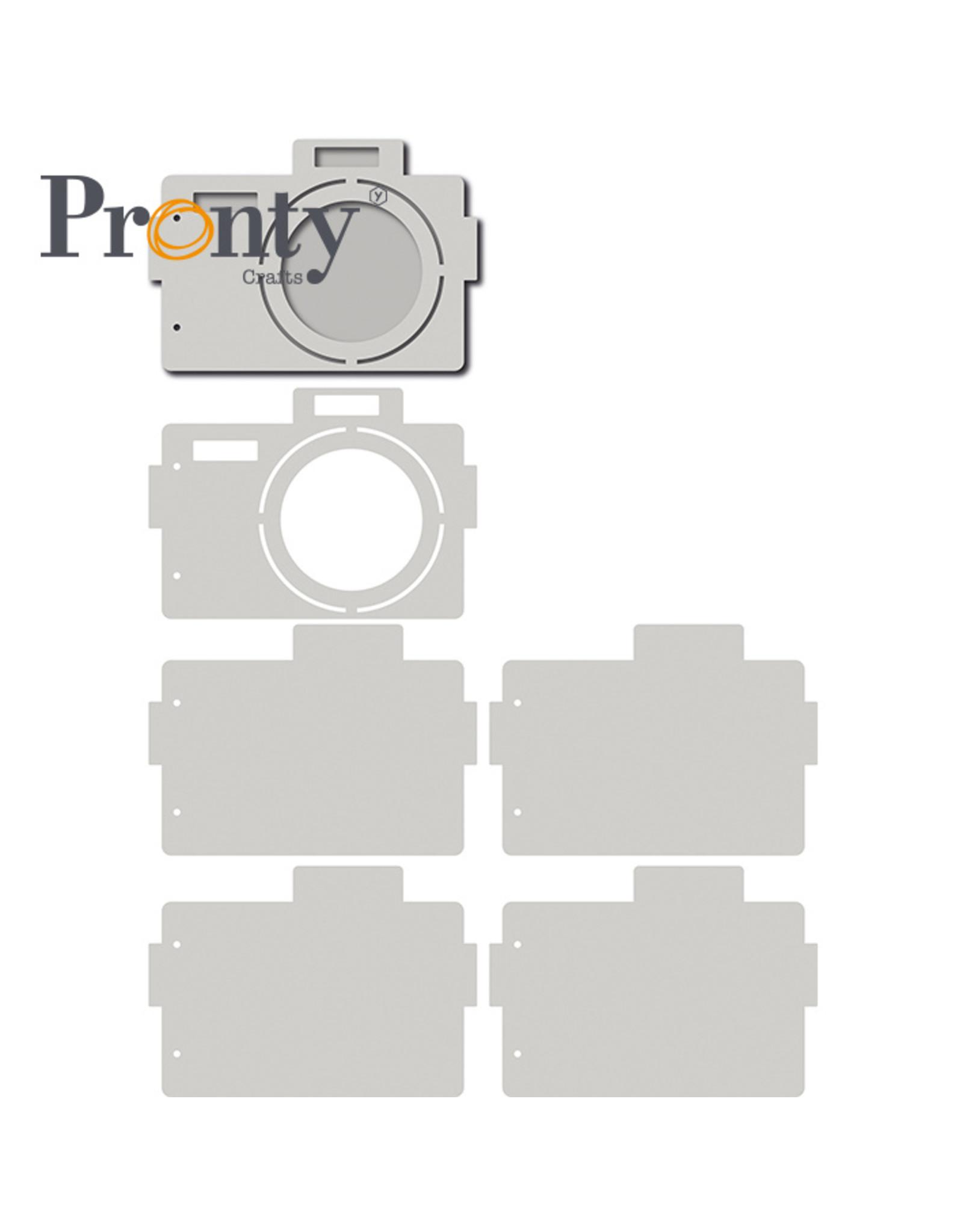 Pronty Crafts Grey Chipboard Album Retro Camera 205x144 mm