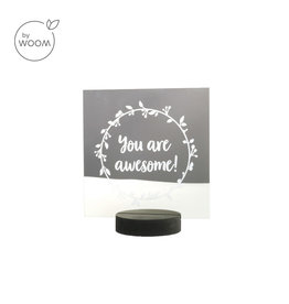 By WOOM    Mirror with quote