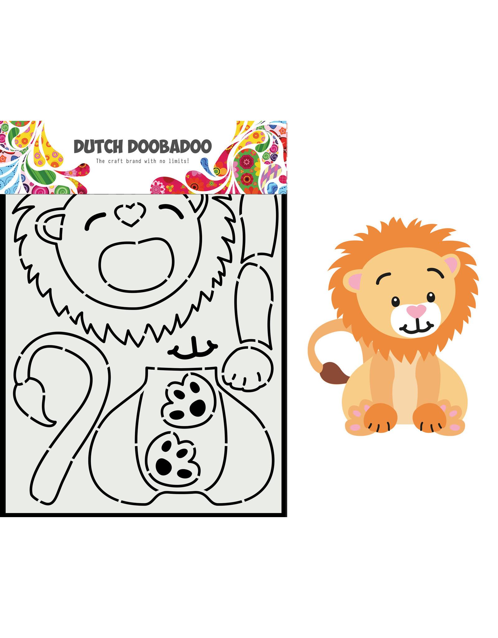 Dutch Doobadoo DDBD Card Art Built up leeuw A5