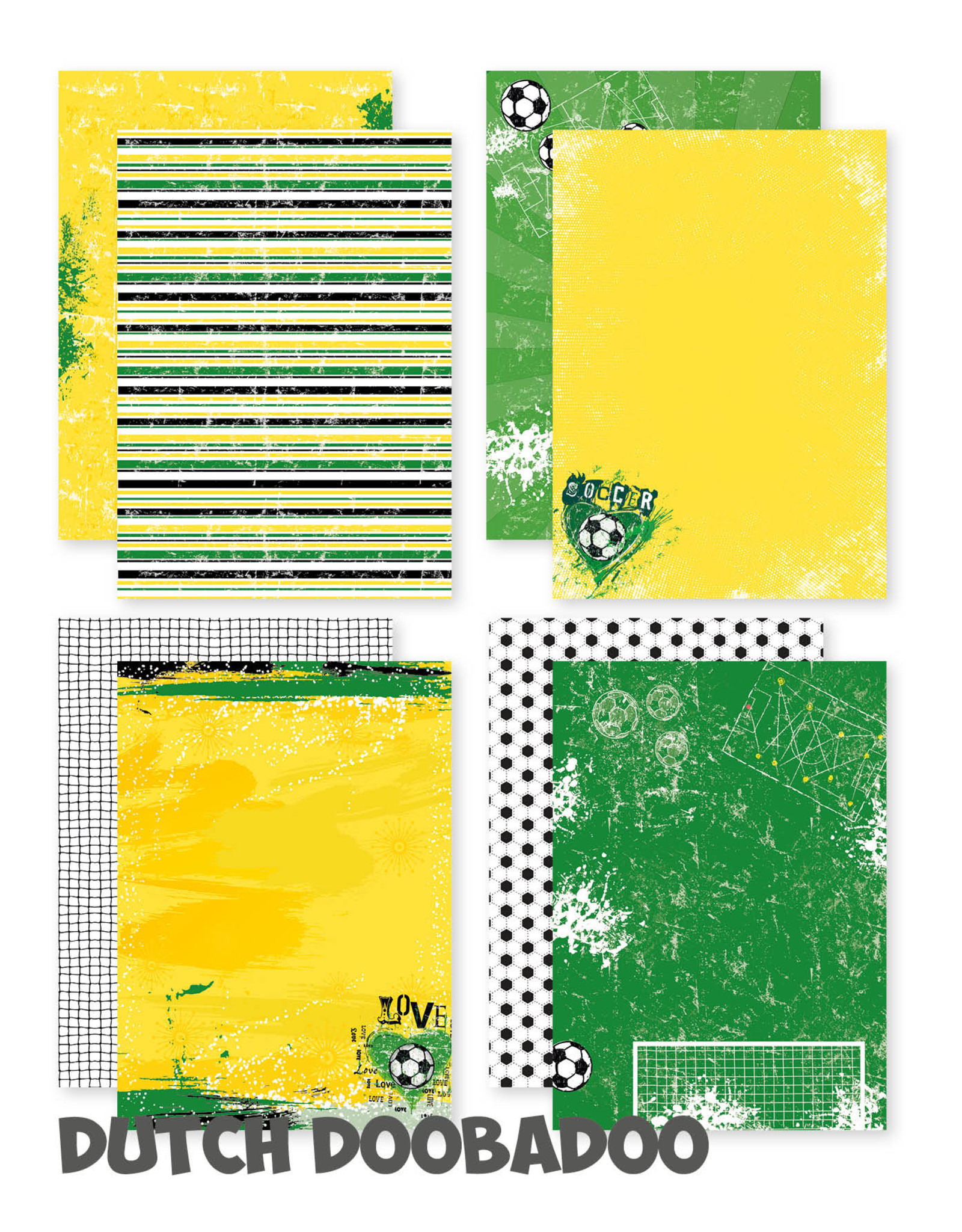 Dutch Doobadoo DDBD Dutch design papier A4 - Voetbal