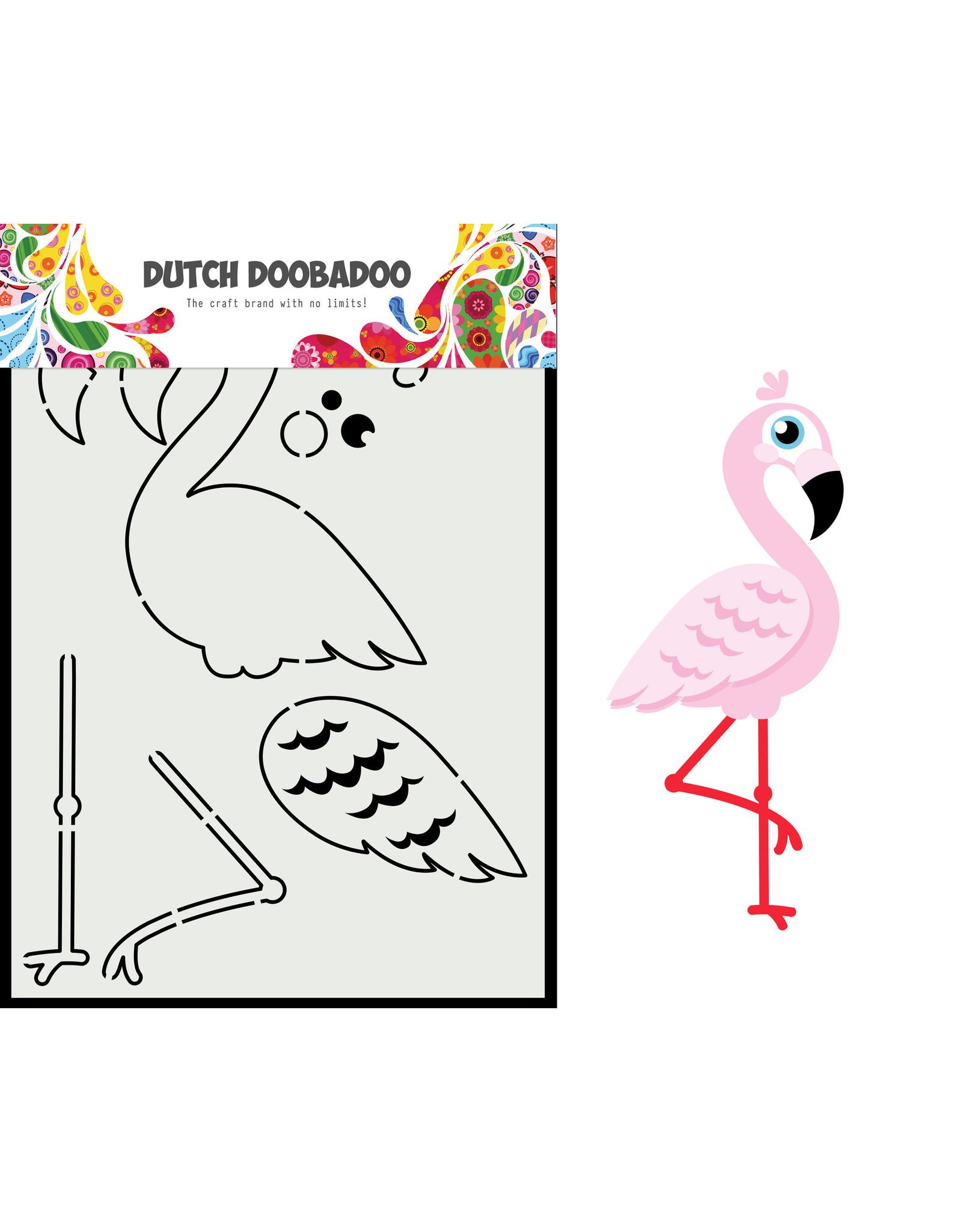 Dutch Doobadoo DDBD Card Art Built up flamingo A5