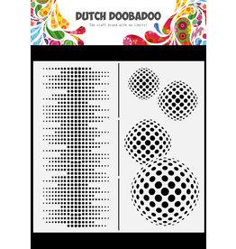 Dutch Doobadoo DDBD Mask Art Slimline Circles 21 x 21cm