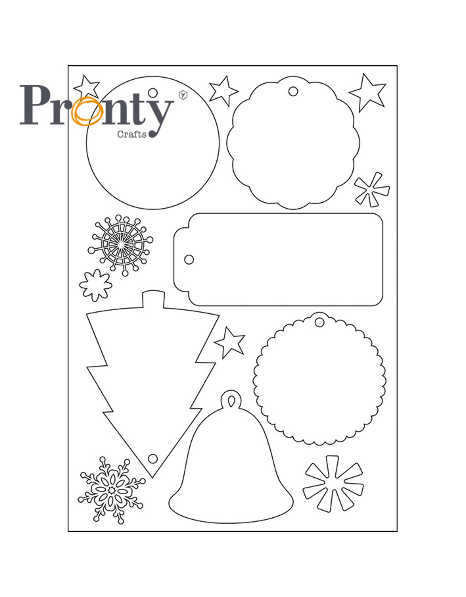 Pronty Crafts Pronty Embellish Chrismas labels white