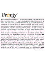 Pronty Crafts Pronty Stickers A5 Chistmas text