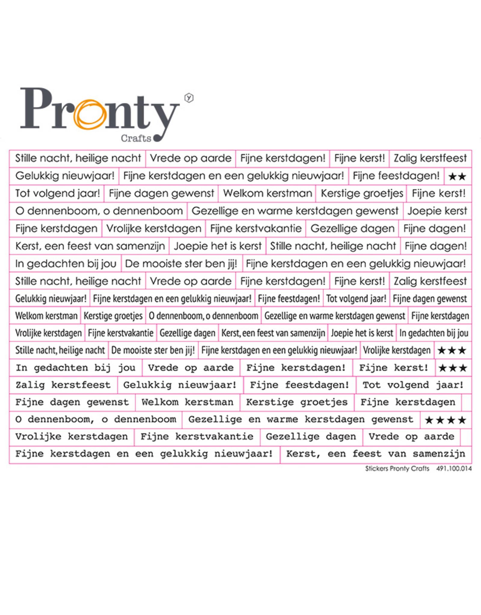 Pronty Crafts Pronty Stickers A5 Kerst tekst