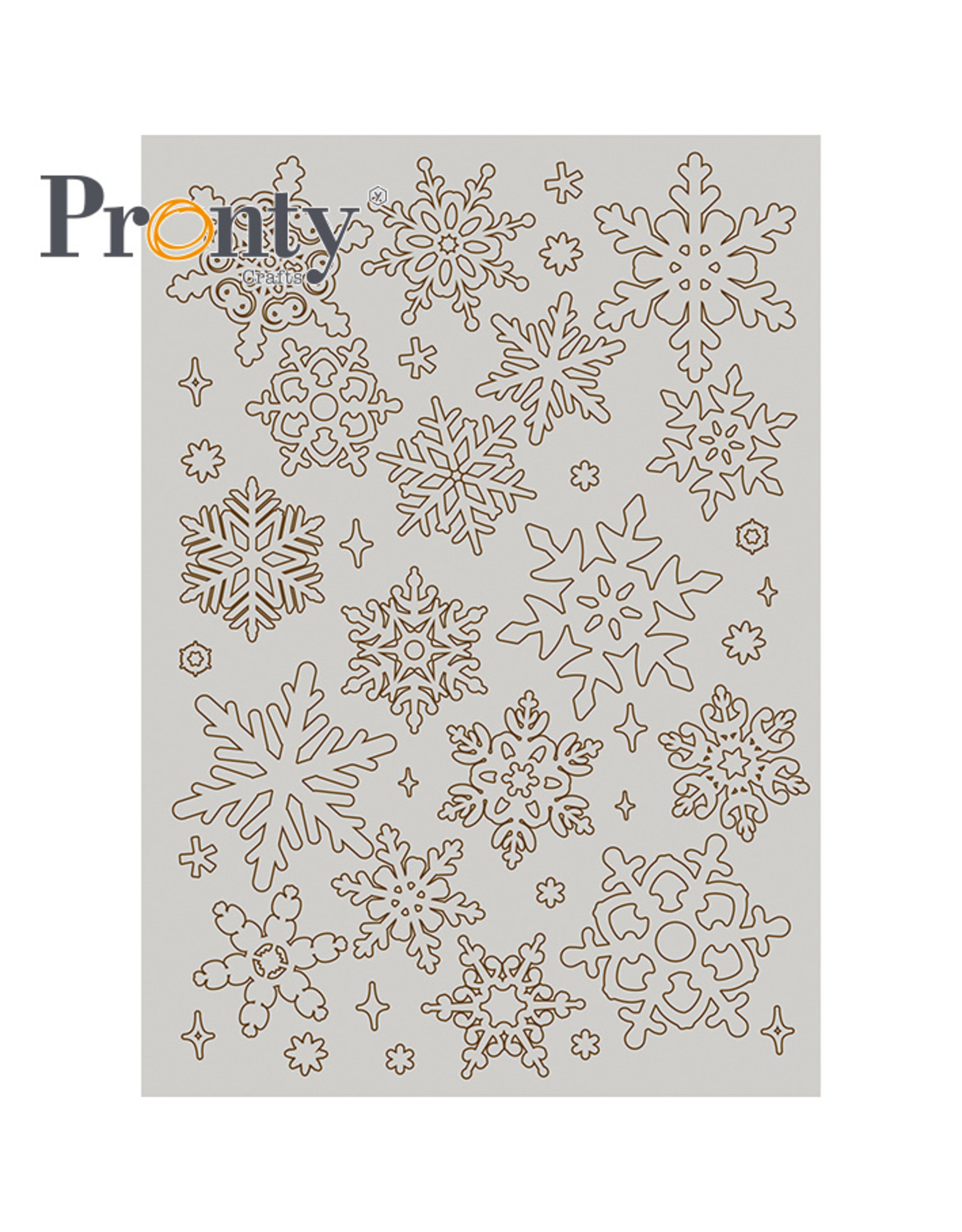 Pronty Crafts Grey Chipboard Snowflakes A5