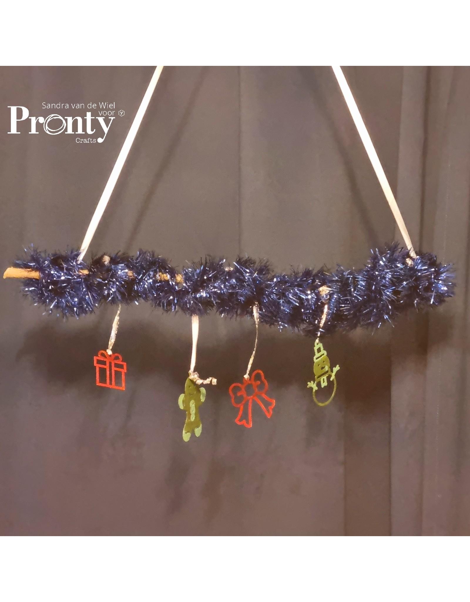 Pronty Crafts Grey Chipboard Christmas tree deco A4