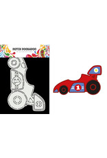 Dutch Doobadoo DDBD Card Art A5 Race Car