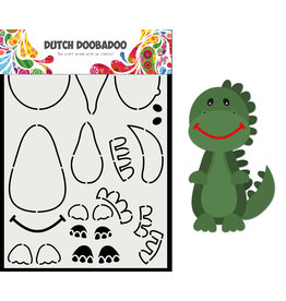 Dutch Doobadoo DDBD Card Art Built up Dino A5