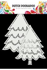 Dutch Doobadoo DDBD Card Art Kerstbomen 2 set A5
