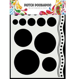 Dutch Doobadoo DDBD Mask Art A5 Doodle circles and border