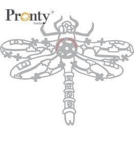 Pronty Crafts Stencil Steampunk Dragonfly A5