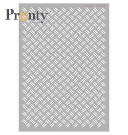 Pronty Crafts Pronty Crafts Stencil Checker plate A4