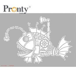 Pronty Crafts Pronty Crafts Stencil Steampunk Fish A4