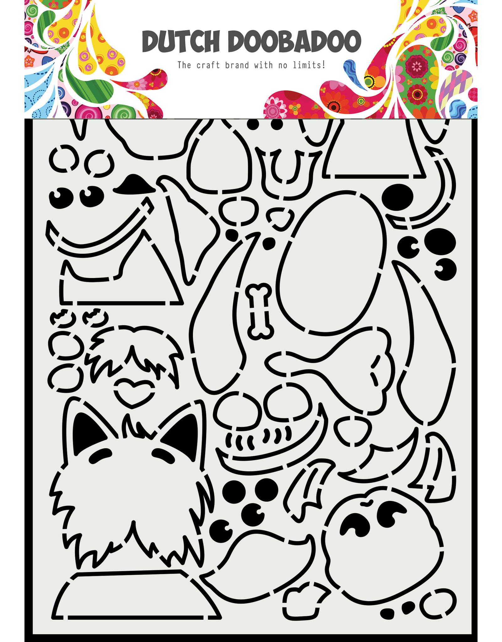 Dutch Doobadoo DDBD Card Art A5 Peek a boo hondjes