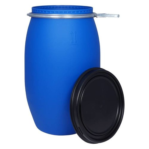 120 liter kunststof klemdeksel vat