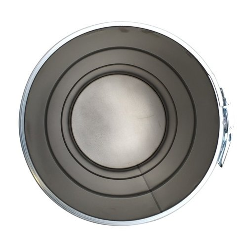 60 liter stalen klemdeksel vat - grijs