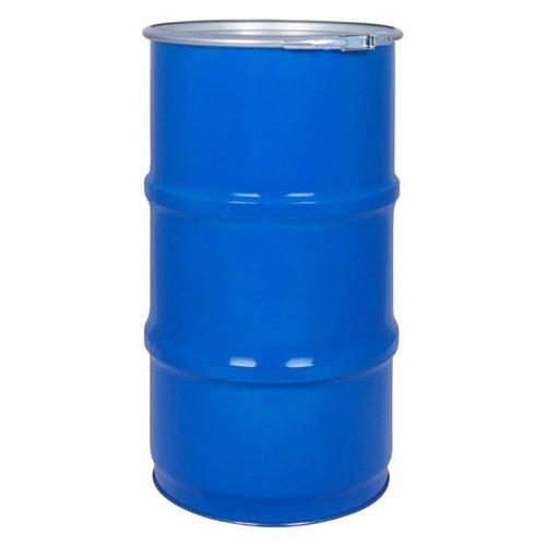 60 liter stalen klemdeksel vat - blauw