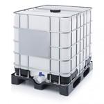 1000 liter RECO IBC met kunststof pallet en UN keurmerk