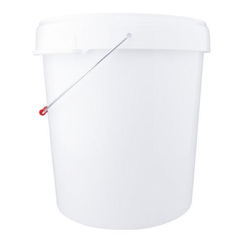 32 liter emmer met deksel - rond - wit