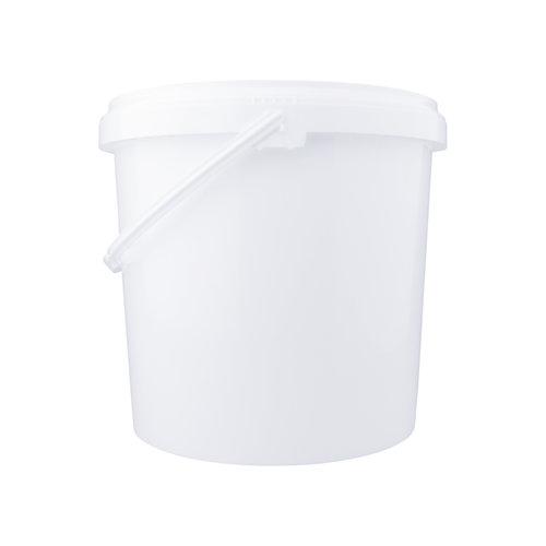 20 liter emmer met deksel - rond - wit