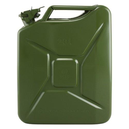 20 liter stalen brandstof jerrycan - groen