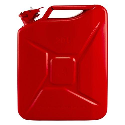 20 liter stalen brandstof jerrycan - rood