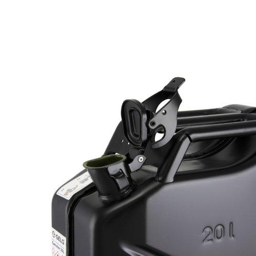 20 liter stalen brandstof jerrycan - zwart