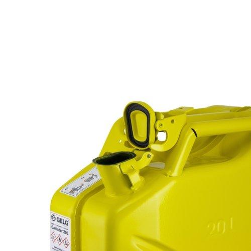 20 liter stalen brandstof jerrycan - geel