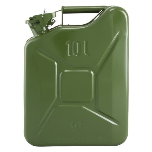 10 liter stalen brandstof jerrycan - groen