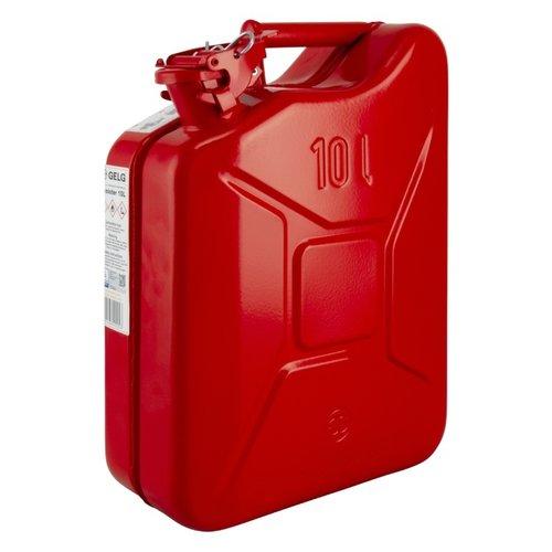 10 liter stalen brandstof jerrycan - rood