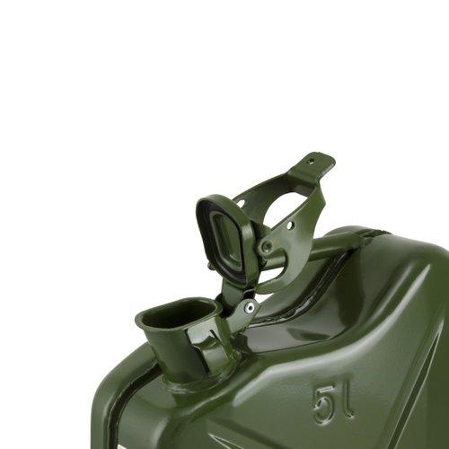 5 liter stalen brandstof jerrycan - groen