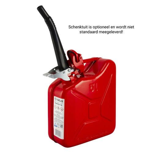 5 liter stalen brandstof jerrycan - rood
