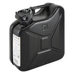 5 liter stalen brandstof jerrycan - zwart