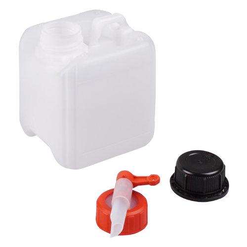1 liter jerrycan met kraan voor gevaarlijke vloeistoffen