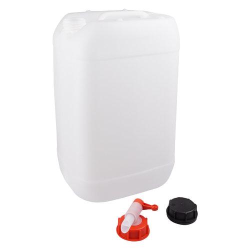 25 liter jerrycan met kraan voor gevaarlijke vloeistoffen