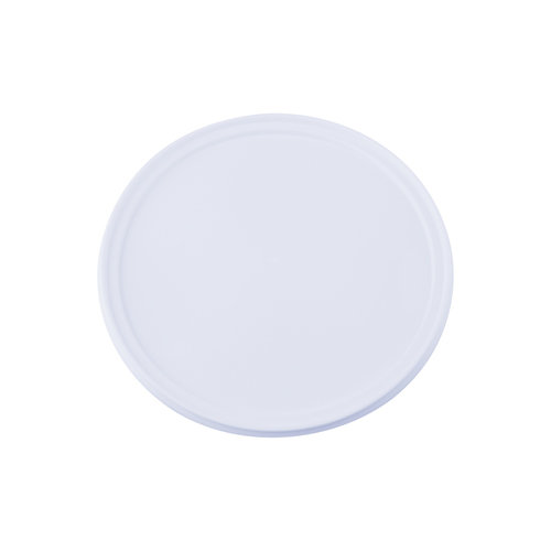 Witte deksel voor 5 liter emmer met deksel - rond