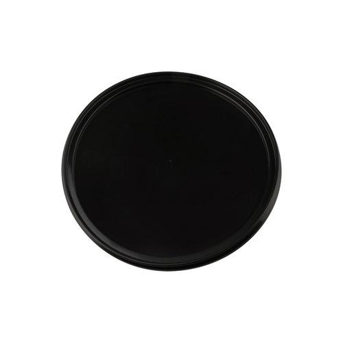 Zwarte deksel voor 5 liter emmer met deksel - rond