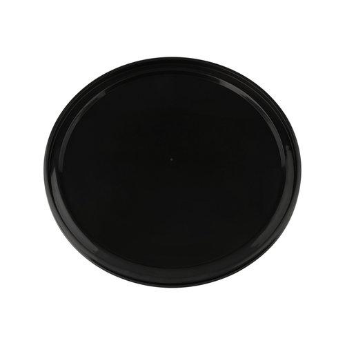Zwarte deksel voor 10 liter emmer met deksel - rond
