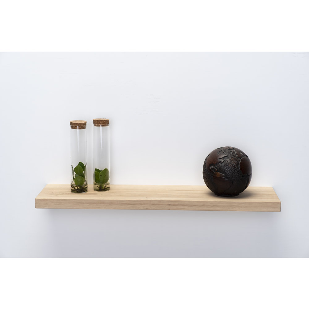 Oak Wall Board 3cm Thickness Planed Tightly Sawn With Floating Mounting System Wall Shelf Shop