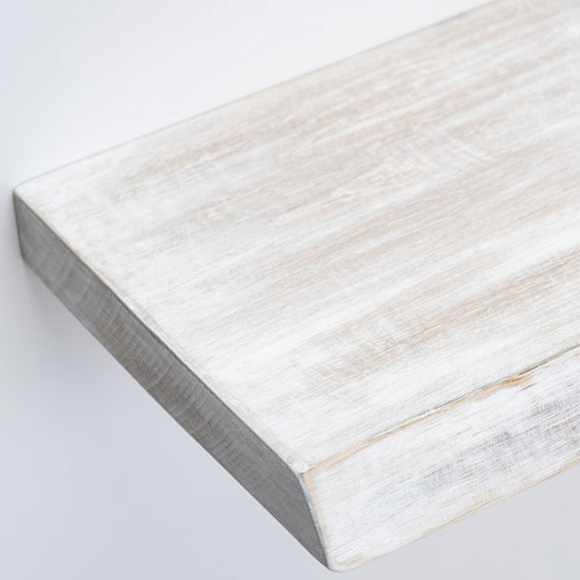 Oak wall shelf white