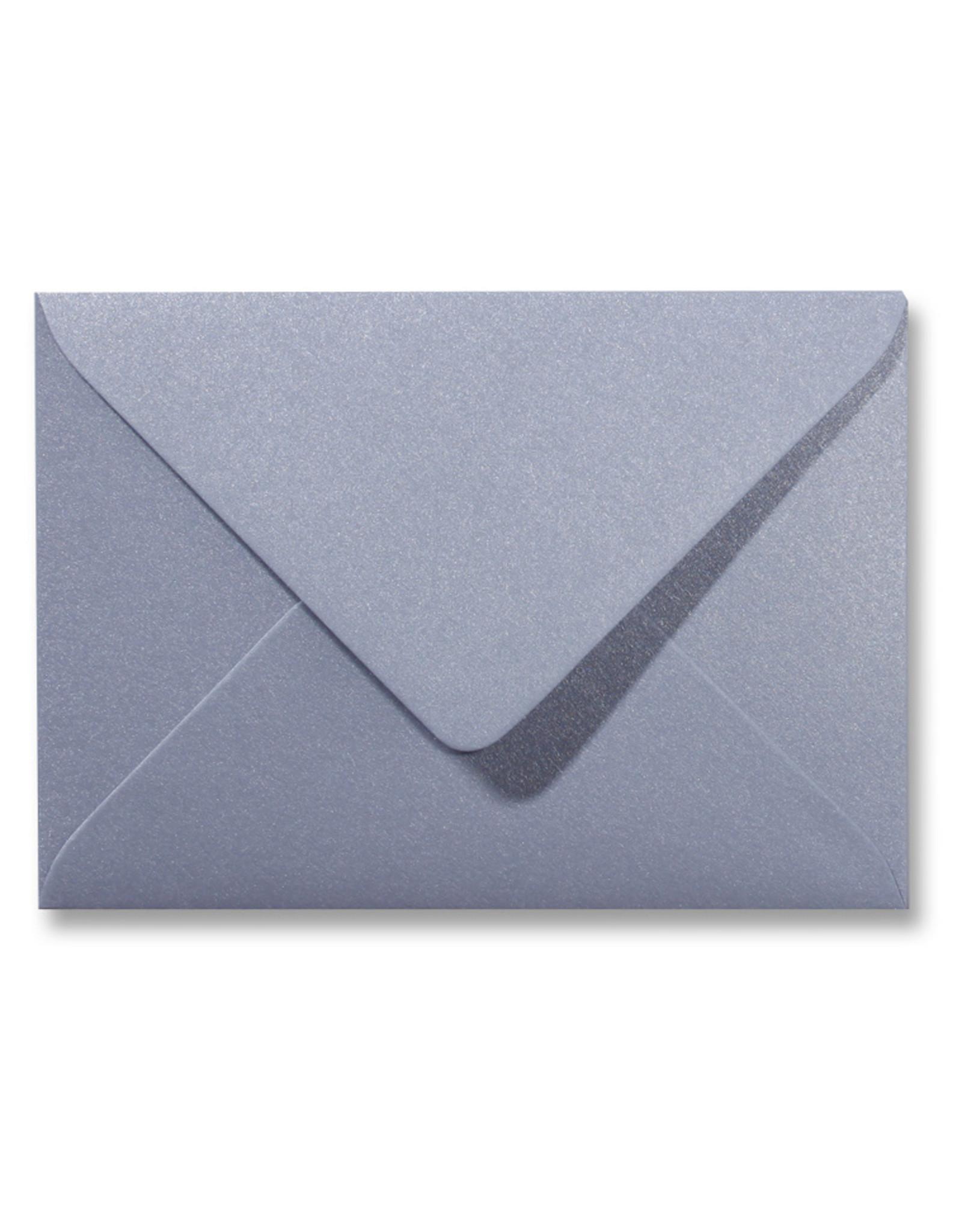 www.Robin.cards Blanco metallic envelop Zilver