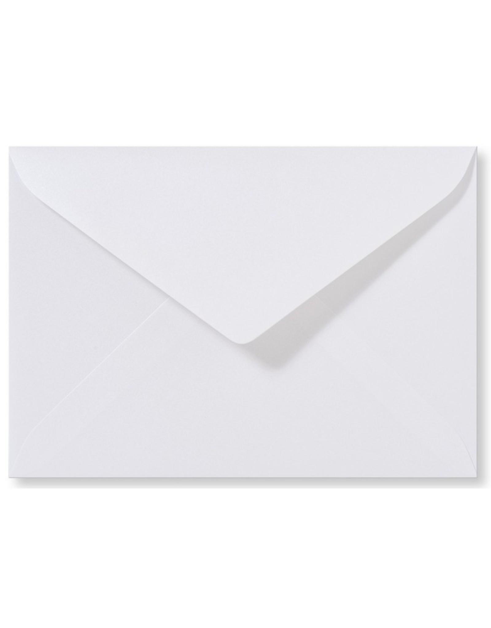 www.Robin.cards Blanco metallic envelop Hoogwit